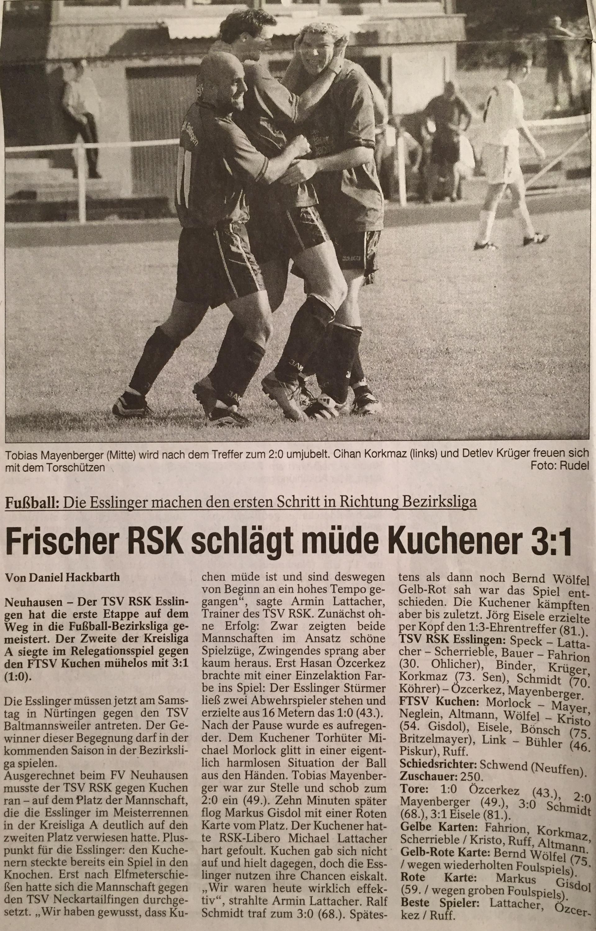 12.06.2002 Relegation gegen Kuchen