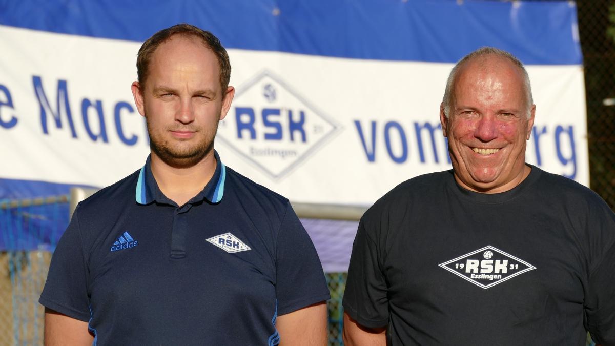 Trainer Nico Ebert und Thomas Hammerle