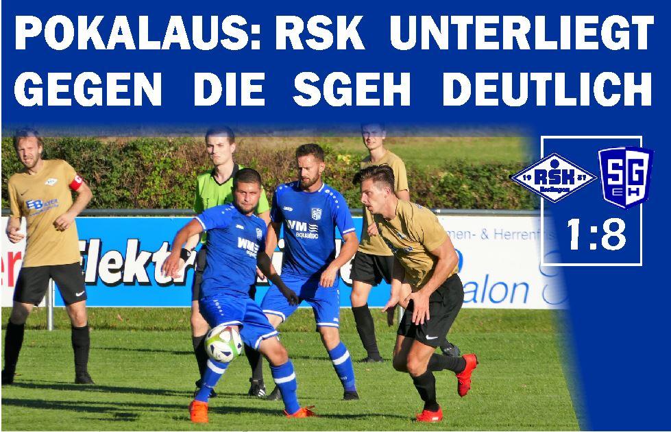 Pokalspiel Erste gegen SG SG Erkenbrechtsweiler-Hochwang